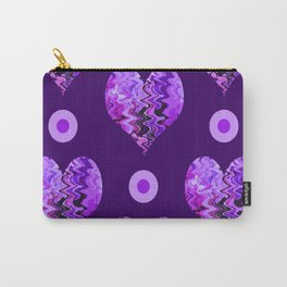 purple heart and  violet spots Carry-All Pouch