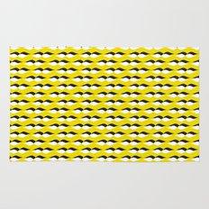 yellow petal lines Rug
