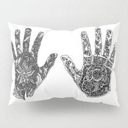 Hands of Contrast Pillow Sham