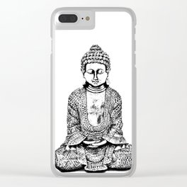 Buddha,Art on,HOME DECOR,3,Pillows,Curtains,iPhone skins,Backpack,Bag,Rucksack,Home Decor,Meditation Clear iPhone Case