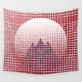 Left - mountains Wall Tapestry