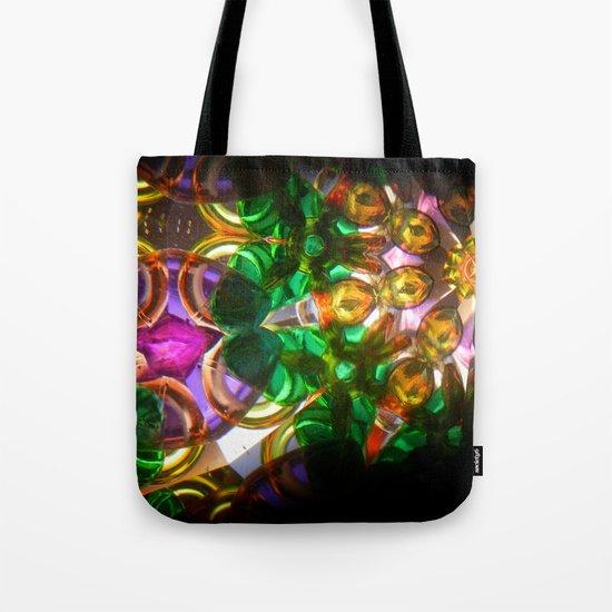kaleido: green, purple, orange Tote Bag