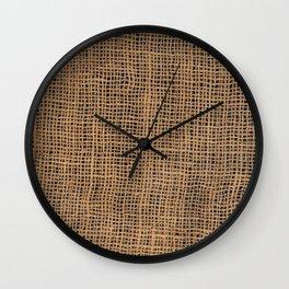 Burlap Grid Wall Clock