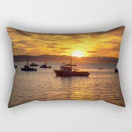 The Best Part of Waking Up boats in Port San Luis at Sunrise Rectangular Pillow