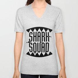 Shark Squad Funny Gift Kids Women Men Unisex V-Neck