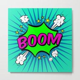 Boom Blue Boom Metal Print