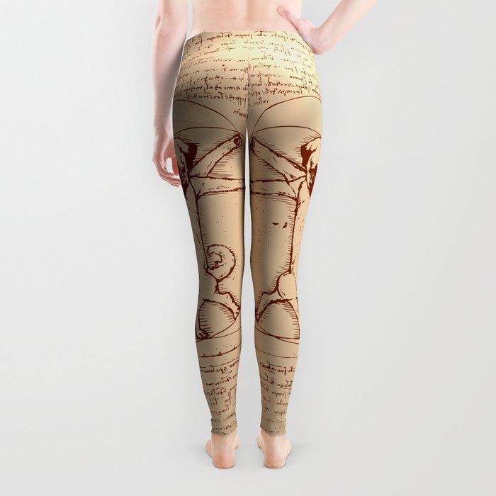 Vitruvian pug Leggings