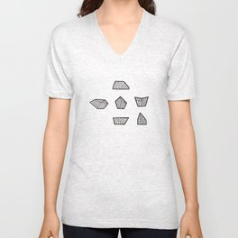 Abstract Rocks - Line Art Unisex V-Neck