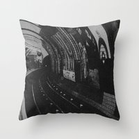 velvet underground Throw Pillows featuring Underground by samrosey