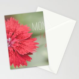 Mom I love you forever Stationery Cards