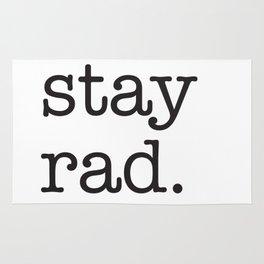 Stay Rad. Rug