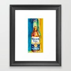 Corona Beer Framed Art Print