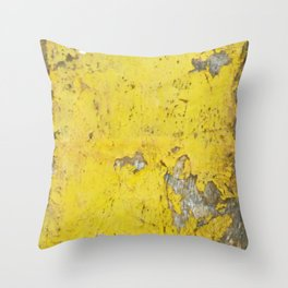 Yellow Weathered Wood rustic decor Throw Pillow