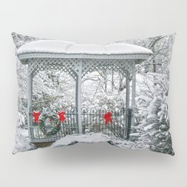 Gazebo in the Snow Pillow Sham