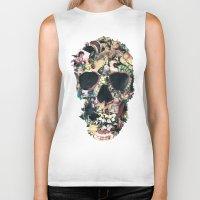 ali Biker Tanks featuring Vintage Skull by Ali GULEC