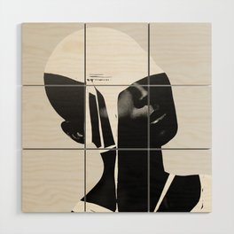 abstract portrait Wood Wall Art