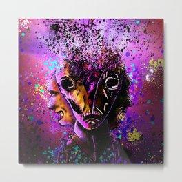 Split-Face Metal Print