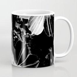 Black Flowers Coffee Mug