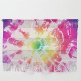Tie-Dye Sunburst Rainbow Wall Hanging