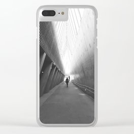 Tunnel of light Clear iPhone Case