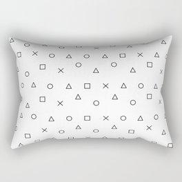 gaming pattern - gamer design - playstation controller symbols Rectangular Pillow