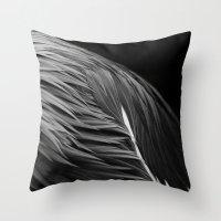 crane Throw Pillows featuring Crane by Bart De Keyzer