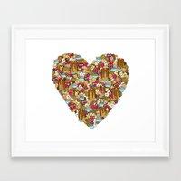 breakfast Framed Art Prints featuring Breakfast by Julia Emiliani