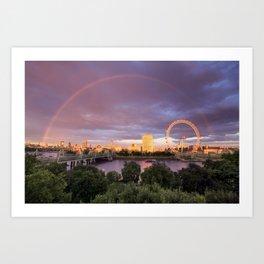 London Eyes  Art Print
