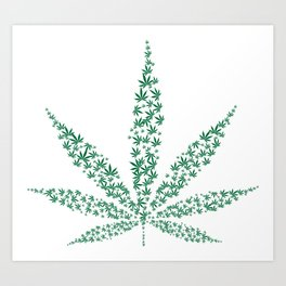 get high on life,natiural herb,Marijuana Botanical Print, Marijuana Botanical Art Print, Art Print