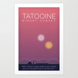 Minimal Poster Series - Tatooine - Wars Star Art Print