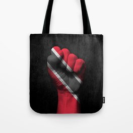 Trinidadian Flag on a Raised Clenched Fist Tote Bag