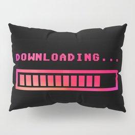 Downloading progress bar 8-bit hue Pillow Sham