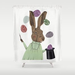 Hare-y Adventures 3 Shower Curtain
