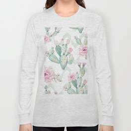 Cactus Rose Deconstructed Chevron Long Sleeve T-shirt