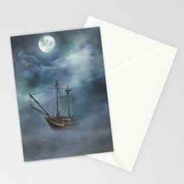 Sailing in the Dark Seas Stationery Cards