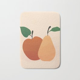 An Apple and a Pear Bath Mat
