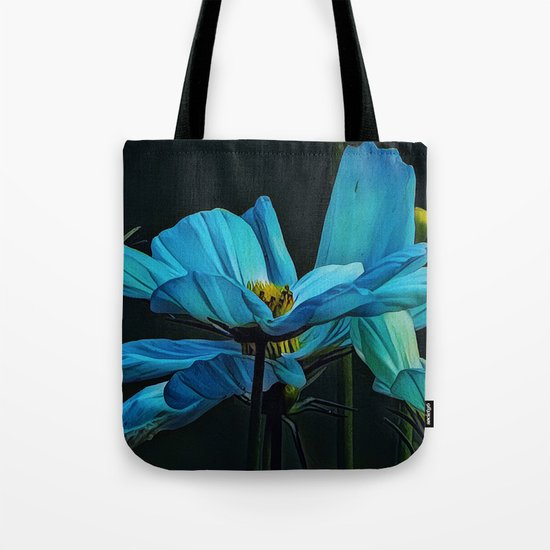 Cool Blue Comos Tote Bag