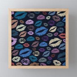 Lips 20 Framed Mini Art Print