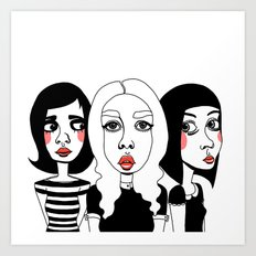 It Girls Art Print