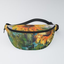 Sunflowers in the wind Fanny Pack