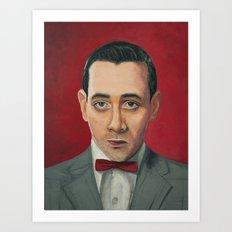Pee-Wee Herman, A portrait Art Print