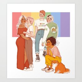 GAY WITCHES Art Print