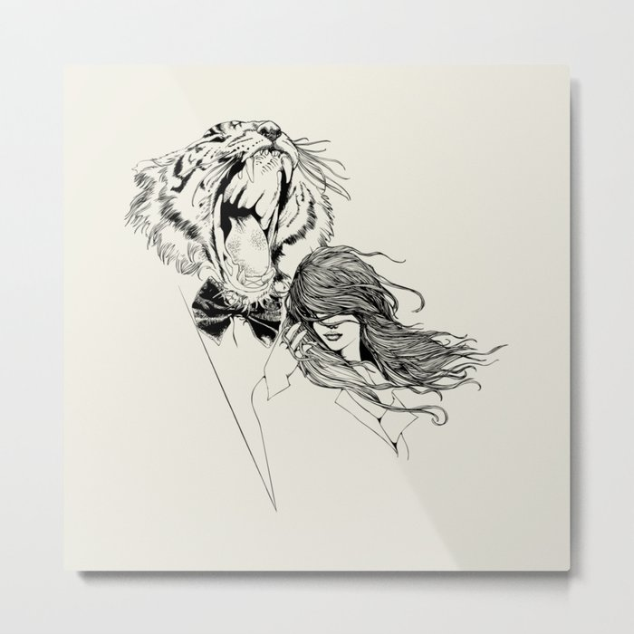 The Tiger's Roar Metal Print