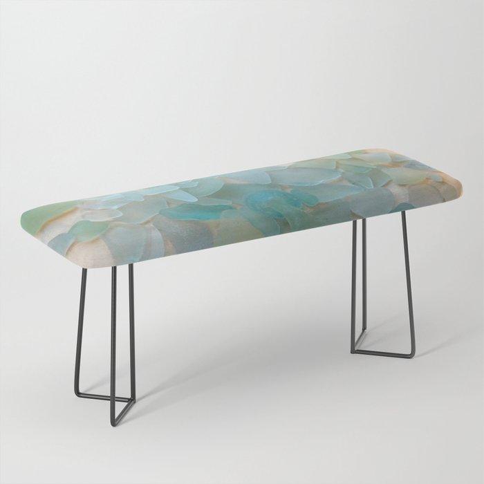 Ocean Hue Sea Glass Bench