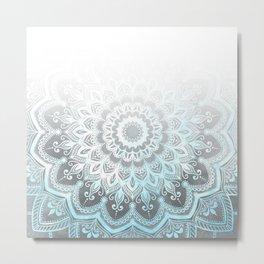 Blue Pleasure Ombre Metal Print