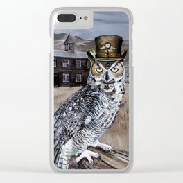 The Owl and the Schoolhouse Clear iPhone Case
