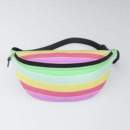 Pastel Rainbow Sorbet Horizontal Deck Chair Stripes Fanny Pack