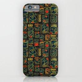Maya Calendar Glyphs pattern iPhone Case