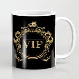 VIP In Black and Goldtone Coffee Mug