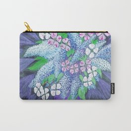Lilacs, Dogwood and Bleeding Hearts Flowers  Carry-All Pouch